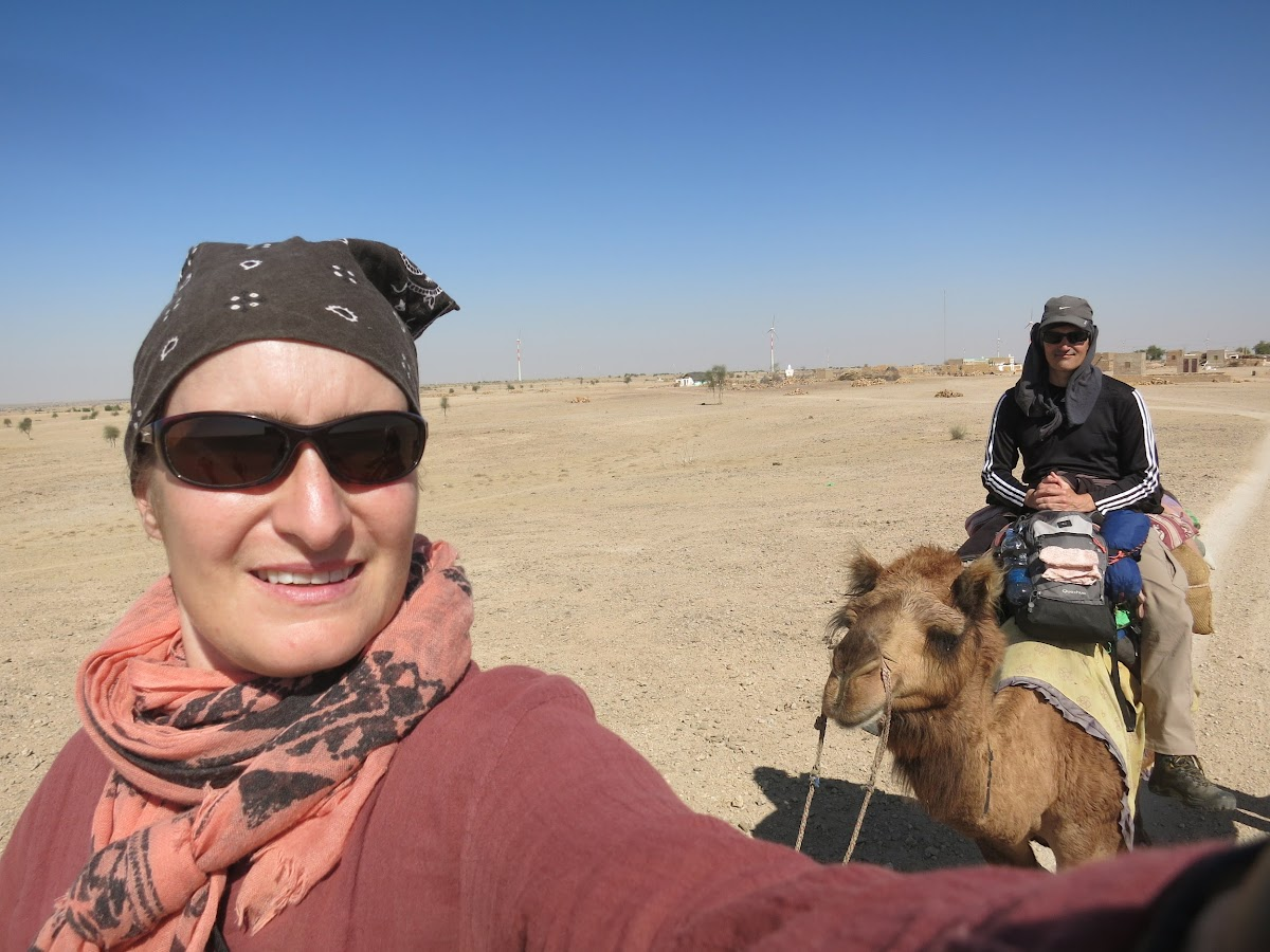 India. Rajasthan Thar Desert Camel Trek. Working on that selfie angle.