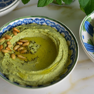 Fresh Mint Hummus.