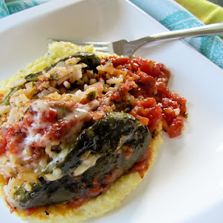 Grilled Peppers Stuffed with Herbed Basmati Rice
