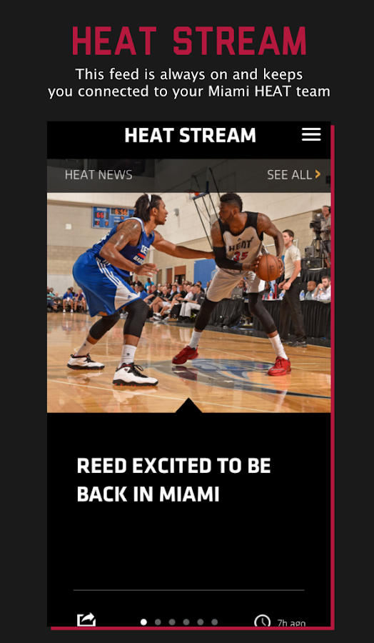 Miami HEAT Mobile- screenshot