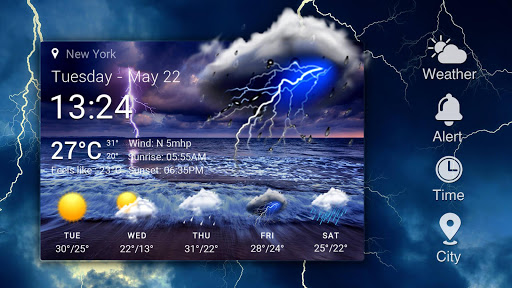 Live weather & Clock Widget Apk apps 8