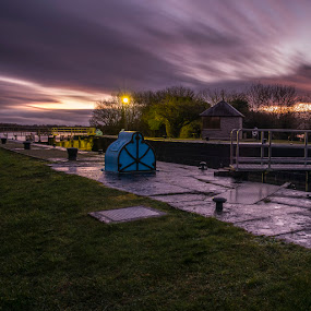 Lock House by F Kelly - Landscapes Waterscapes ( ireland, victoria lock, lock keeper, lock, shannon, offaly, river )