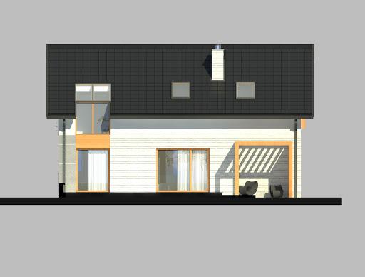 LIM House 04 - Elewacja tylna
