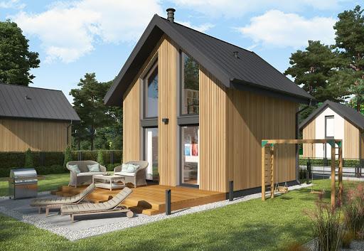 projekt Lido 2 C dom mieszkalny, całoroczny z antresolą