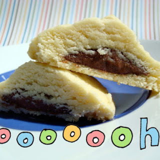 Nutella-Filled Shortbread Cookies.