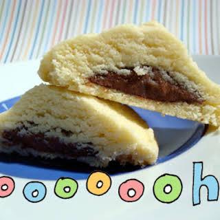 Nutella-Filled Shortbread Cookies.