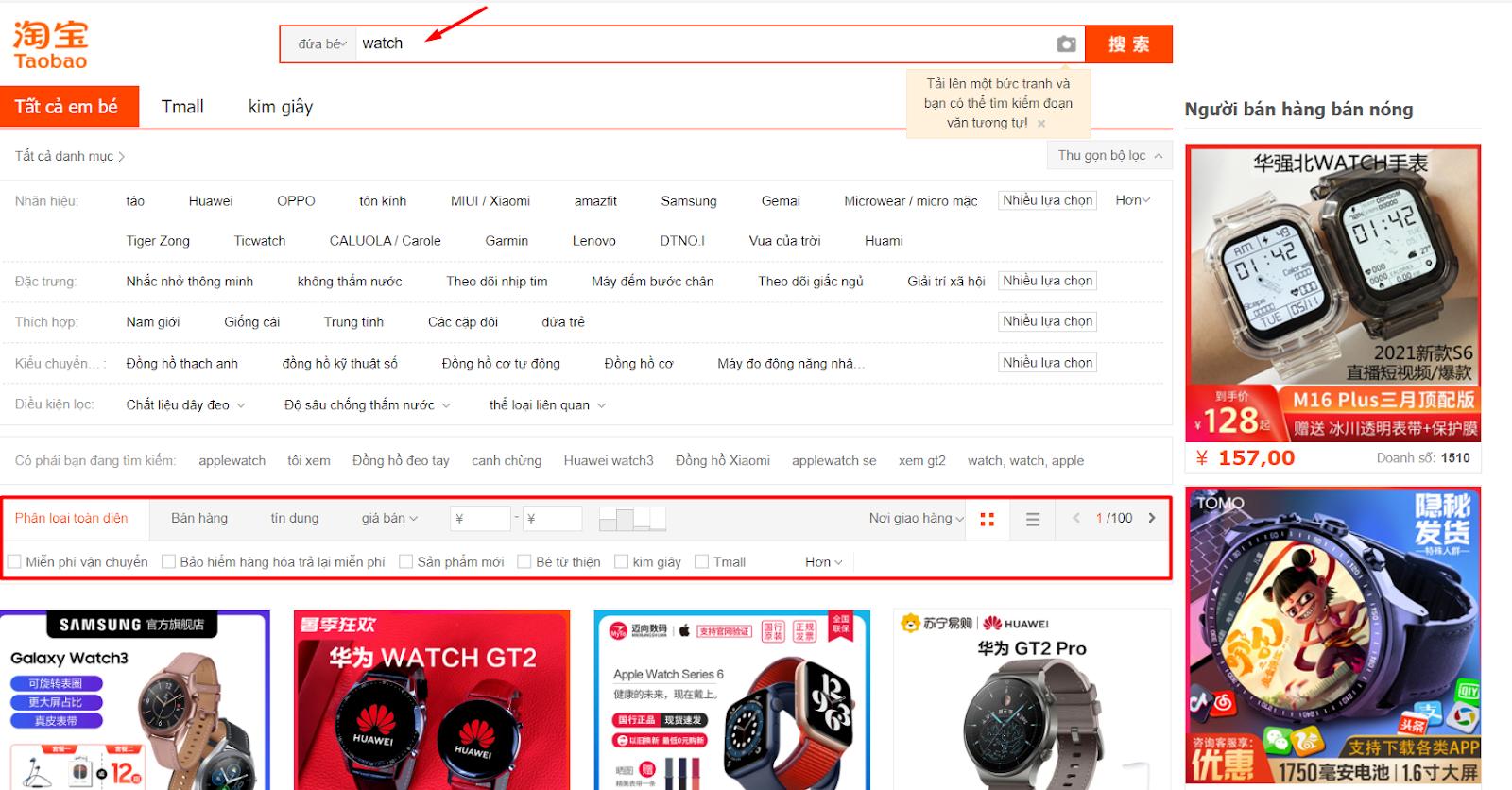 Cách đặt hàng Taobao