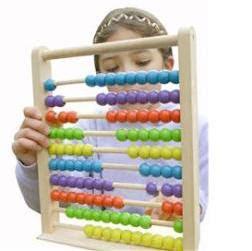 Girl using an abacus