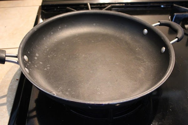 Heat a non-stick griddle or sauté pan on med-high heat.