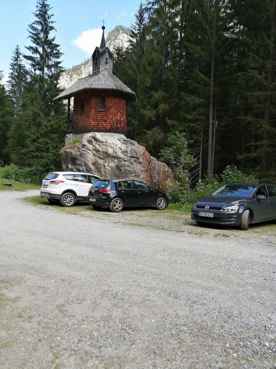 Hubertuskapelle Richtung Wolayersee
