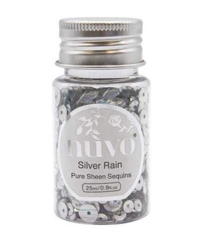 Tonic Studios Nuvo Pure Sheen Sequins 25ml - Silver Rain 1144N