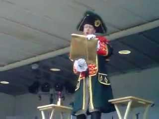 Video: Town Crier Competition at Brantford Kinsmen Annual Ribfest in August 2011.