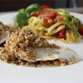 Trout with Lemon and Basil Herb Crust