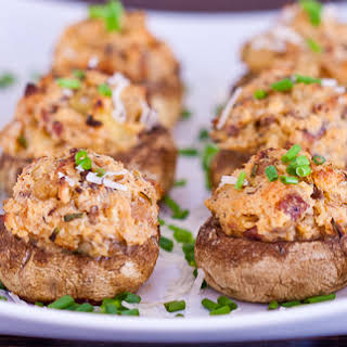 Bacon and Cream Cheese Stuffed Mushrooms.