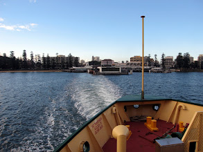 Photo: Leaving Manly