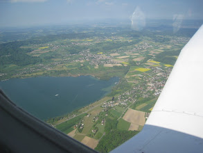 Photo: Due to a lot of rain in Switzerland, the landscape has almost always these beautiful green colors http://www.swiss-flight.net
