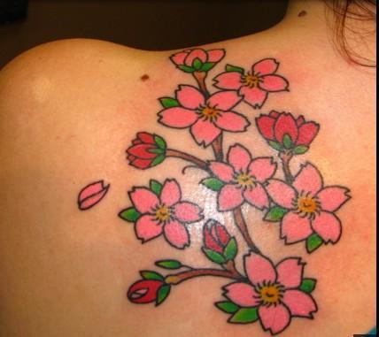 花のタトゥーのデザイン
