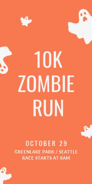 10K Zombie Run - Halloween Template