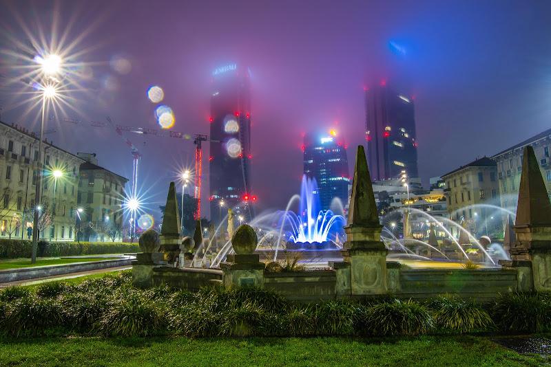 Citylife dopo la pioggia di zucco
