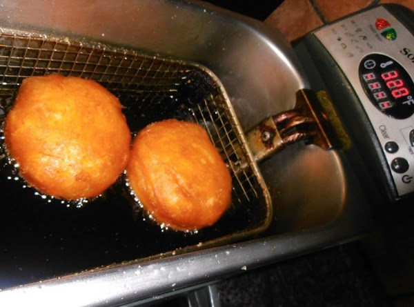 deep fry biscuits at 320 degrees for 7-8 minutes or until golden brown and...