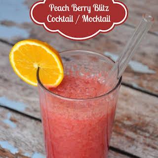 Peach Berry Blitz Cocktail / Mocktail.