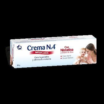 Crema Anti Pañalitis   CREMA N4 Medicada Tubo con Nistatina x30g