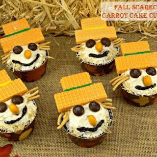 Fall Scarecrow Carrot Cake Cupcakes