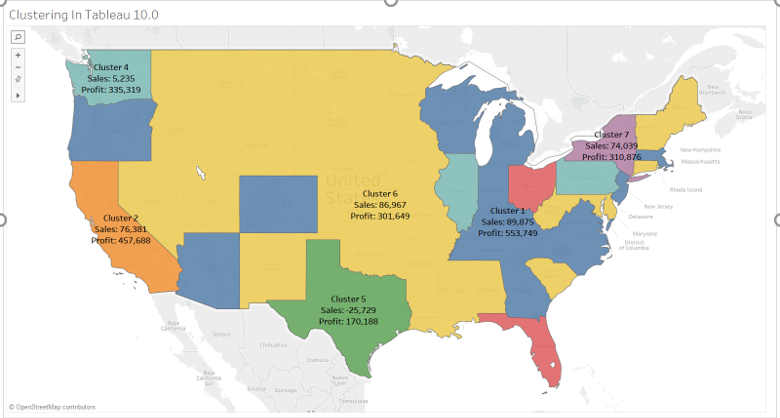 K-means Clustering in Tableau  & Visualizing Custom Sales territory based on the Analysis 44