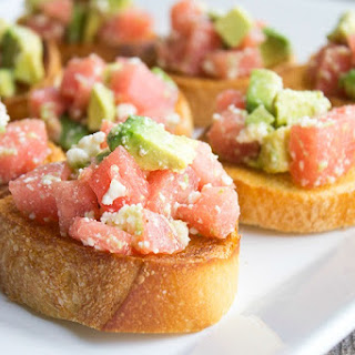 Watermelon & Avocado Bruschetta.