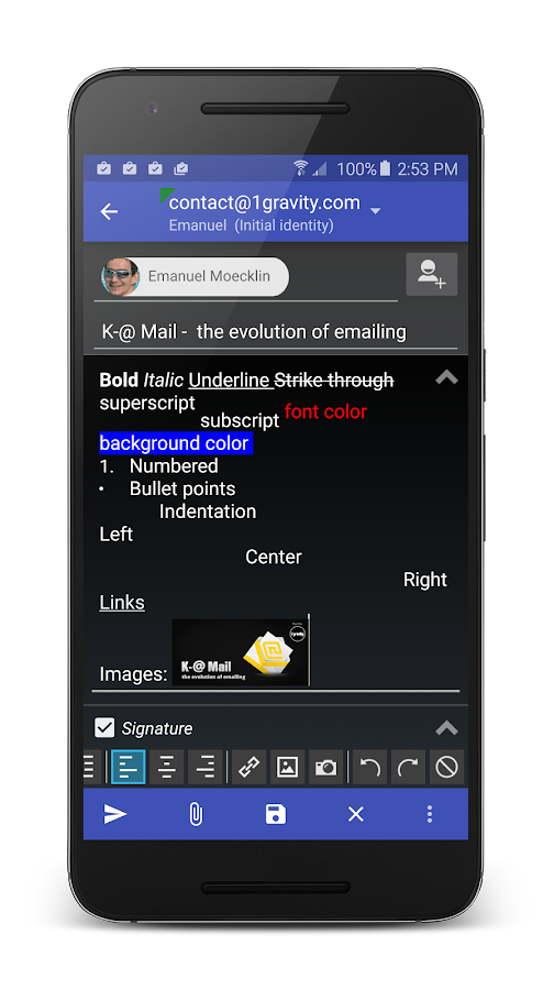 K-@ Mail Pro - Email App- screenshot