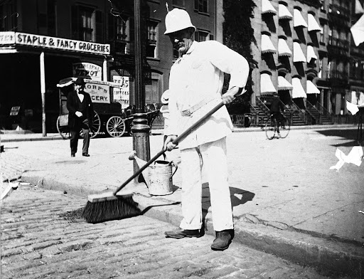Street Sweeper with Helmet