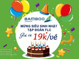 Bamboo Airways khuyến mại vé 19k/chiều bay nội địa, duy nhất 23-10-2020