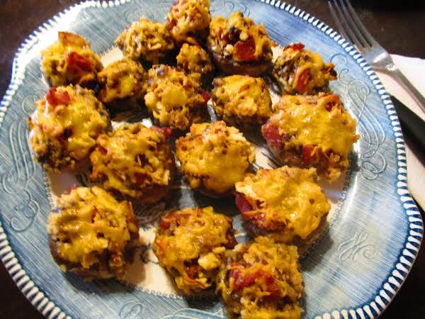 Bacon Cheddar Stuffed Mushrooms Recipe