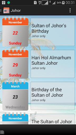 malaysia public holidays 2020 / 2021 screenshot 3