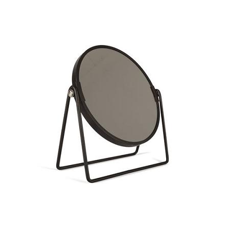 Sminkspegel Rund svart