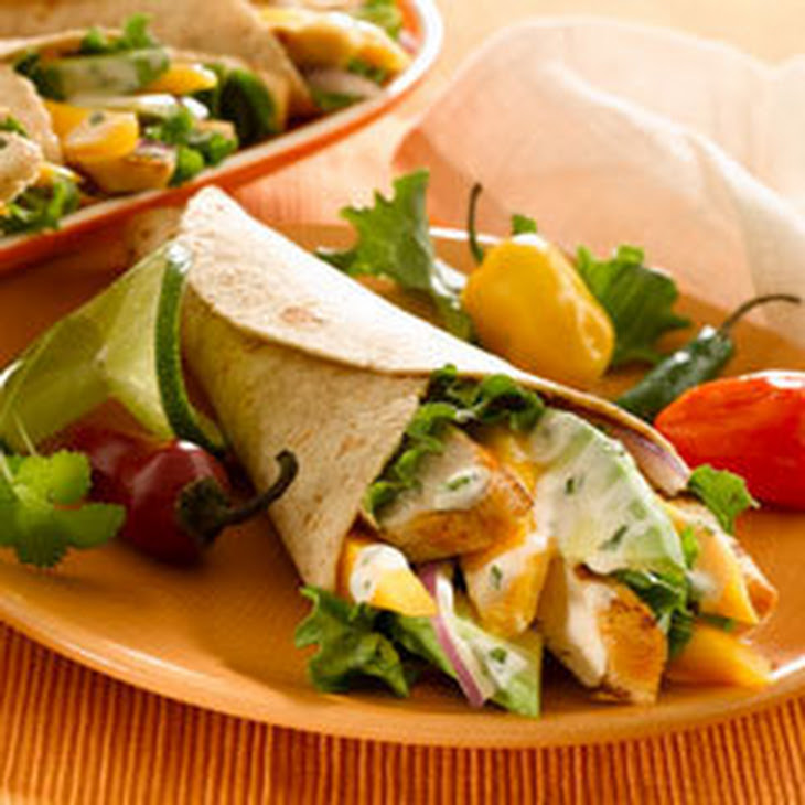 Grilled Chicken & Mango Wraps Recipe