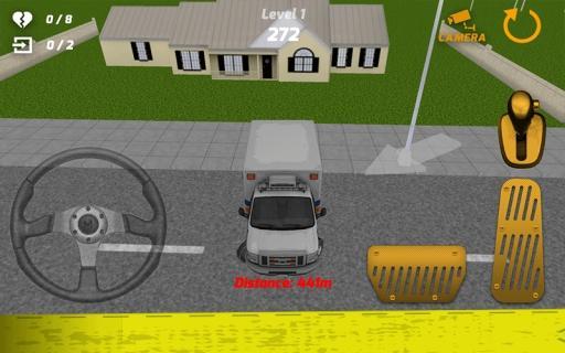救急車の駐車シミュレーター