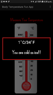 Body Temperature Fun App- screenshot thumbnail
