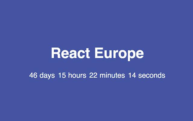 Is it React Europe yet?