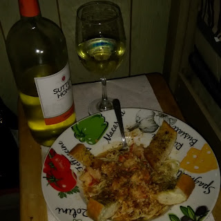Donald pasta, shrimp and scallops white wine garlic sauce