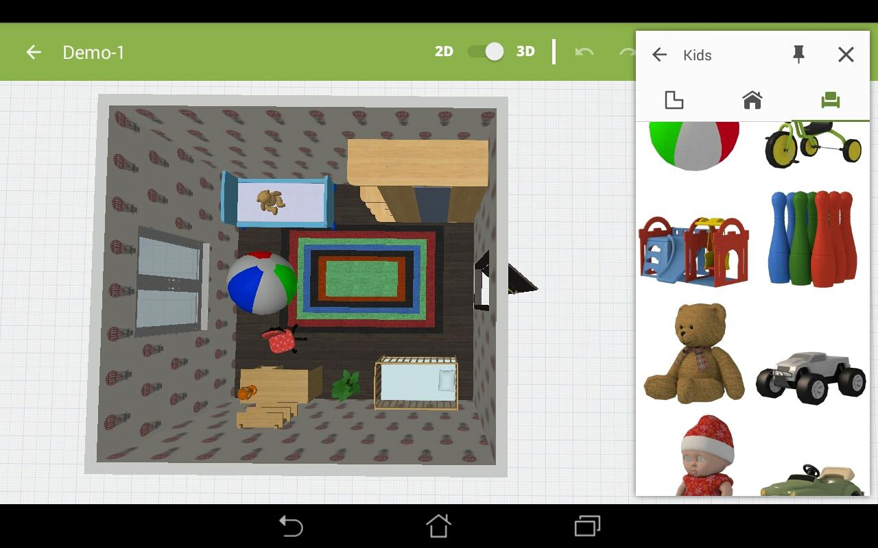 Kids room design android apps on google play for Take a picture of a room and design it app