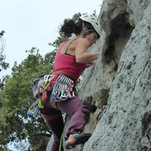Fotos de escalada deportiva en San Fausto (Estella-Lizarra, Navarra/Nafarroa).