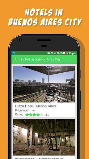 Buenos Aires City - Travel Guide App Report on Mobile Action