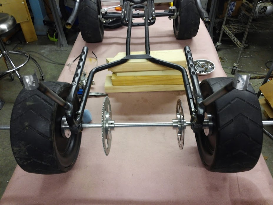 Kid's Pedal Car converted to a two-stroke powered Pedal Kart