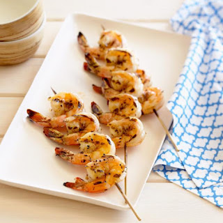 Grilled Shrimp Marinated in Zesty Moroccan Chermoula