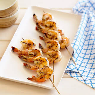 Grilled Shrimp Marinated in Zesty Moroccan Chermoula.