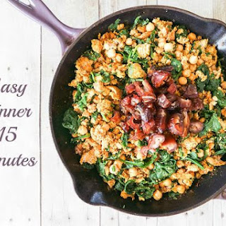 Skillet Ground Turkey Curry with Garbanzo Beans and Dates Recipe