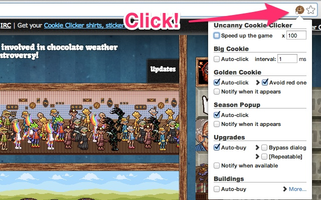 Uncanny Cookie Clicker