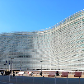 The EU building in Brussels by Svetlana Saenkova - Buildings & Architecture Office Buildings & Hotels ( eu, blue sky, big building, panoramic, brussels, belgium, summer )