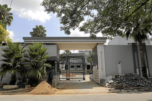 The entrance to Pastor Alph Lukau's house in Huntingdon Road, Morningside.